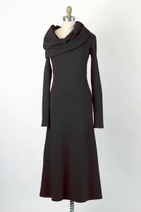Iris Ankle-length cowlneck dress