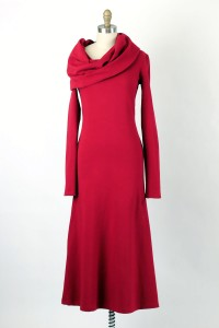 Iris Ankle-length cowlneck dress